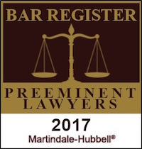 Martindale Hubbell 2017 Bar Register of Preeminent Lawyers
